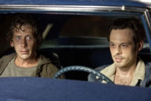 Ben Mendelsohn as Russell and Scoot McNairy as Frankie