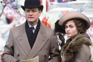 Colin Firth as King George VI and Helena Bonham Carter as the Queen Elizabeth