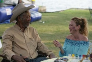 Morgan Freeman as Monte and Virginia Madsen as Charlotte