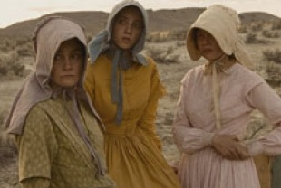 Michele Williams as Emily, Zoe Kazan  as Millie Gately and Shirley Henderson  as Glory White