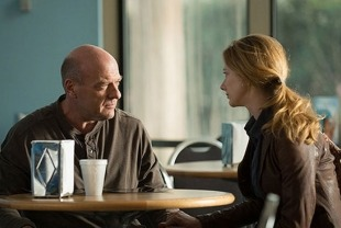 Dean Norris as Kent and Judy Greer as Donna