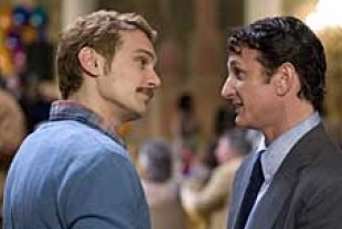 James Franco as Scott Smith and Sean Penn as Harvey Milk