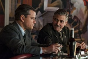 Matt Damon as James and George Clooney as Frank
