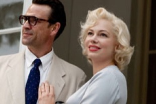 Dougray Scott as Arthur Miller and Michelle Williams as Marilyn