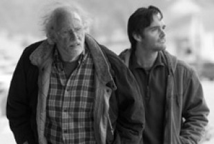 Bruce Dern as Woody and Will Forte as David