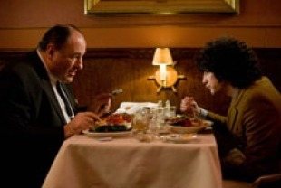 James Gandolfini as Pat and John Magaro as Douglas