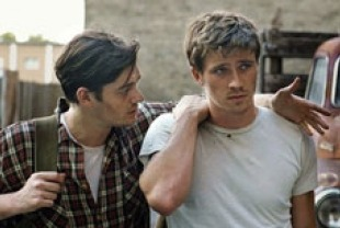 Sam Riley as Sal and Garrett Hedlund as Dean