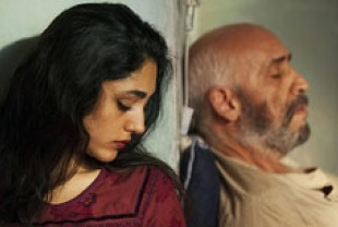 Golshifteh Farahani as the woman and Hamid Djavadan as the man