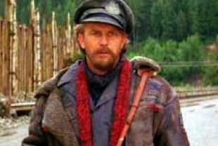 Kevin Costner as the vagabond drifter in The Postman