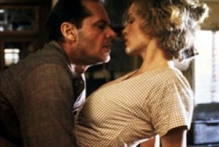 Jack Nicholson as Frank and Jessica Lange as Cora