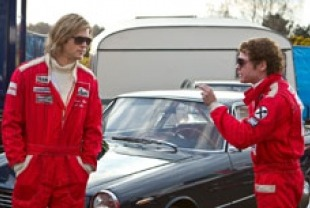 Chris Hemsworth as James and Daniel Bruhl as Niki
