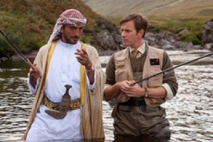 Amr Waked as Sheikh Muhammad and Ewan McGregor as Alfred