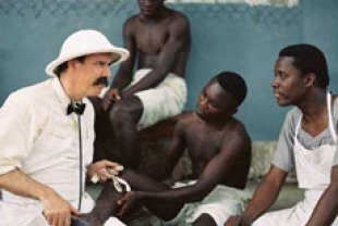 Jeff McCarthy as Albert Schweitzer at his hospital in Africa
