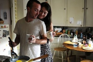 Aaron Paul as Charlie and Mary Elizabeth Winstead as Hannah