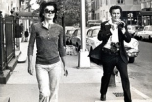 Jackie Onassis and Ron Galella