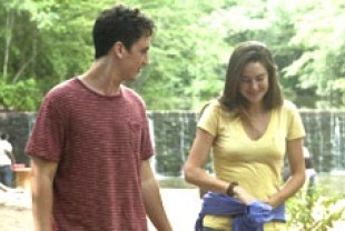 Miles Teller as Sutter and Shailene Woodley as Aimee