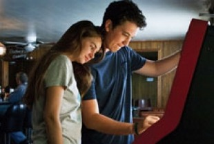 Shailene Woodley as Aimee and Miles Teller as Sutter