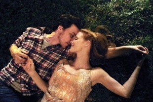 James McAvoy as Conor and Jessica Chastain as Eleanor