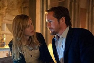 Brit Marling as Sarah and Alexander Skarsgard as Benji