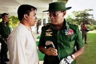 on right Htun Lin as General Ne Win