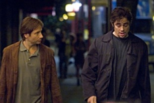 David Duchovny as Brian and Benicio Del Toro as Jerry