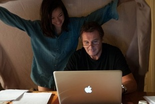 Olivia Wilde as Anna and Liam Neeson as Michael