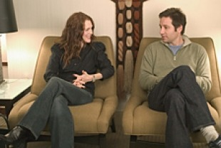Julianne Moore and David Duchovny