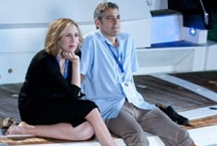 George Clooney as Ryan and Vera Farmiga as Alex
