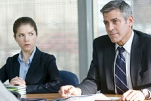 Anna Kendrick as Natalie and George Clooney as Ryan