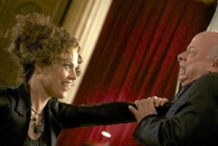 Sigourney Weaver as Cisserus and Wallace Shawn as Dr. Van Helsing